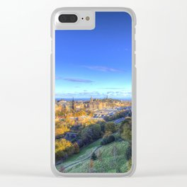 Edinburgh City View Clear iPhone Case