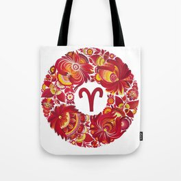 Aries in Petrykivka Style (without artist's signature/date) Tote Bag