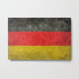 German National flag, Vintage retro patina Metal Print