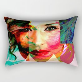 Pop Art Portrait Rectangular Pillow