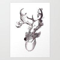 San Venado/ Saint Deer Art Print