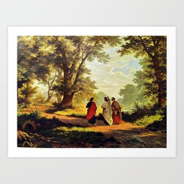 Road To Emmaus Art Print
