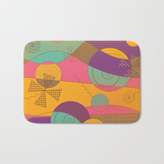 Abstract pattern - Chocolate Candy Bath Mat