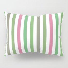Pink Roses in Anzures 5  Stripes 1V Pillow Sham