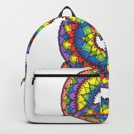 Triple Rainbow Color Design Backpack