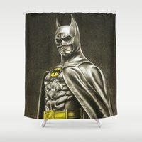 1989 Shower Curtains featuring BAT-MAN 1989 by Bungle