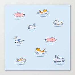 Run Run Run doggy! Canvas Print