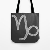 capricorn Tote Bags featuring Capricorn by David Zydd