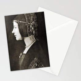 Bianca Sforza by Leonardo da Vinci Stationery Cards