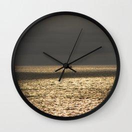 Morning Sailing at early time Wall Clock