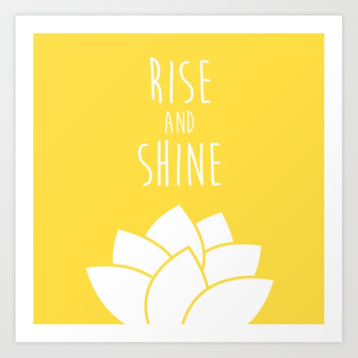 rise and shine art print by minimaldesign society6