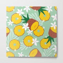 Pineapple pattern 02 Metal Print
