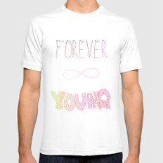 Forever Young Mens Fitted Tee White MEDIUM