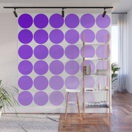 Violet Circle Color Chart Wall Mural