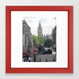 Trafalgar To Big Ben Framed Art Print