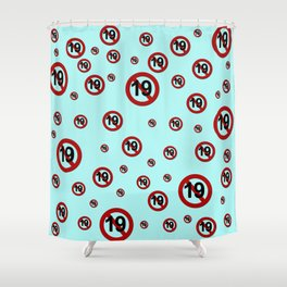 K-Poppin: Rated 19 Shower Curtain