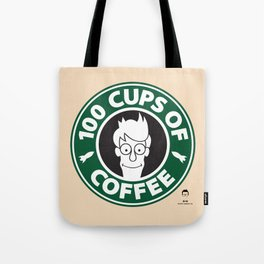 100 Cups of Coffee Tote Bag