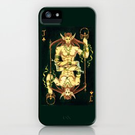Jack of Clubs iPhone Case