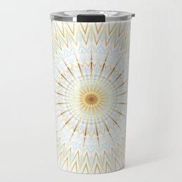 Gold White And Blue Mandala Travel Mug