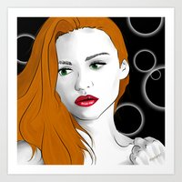 lydia martin Art Prints featuring Lydia Martin by reliand