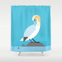 Gannet vector illustration Shower Curtain