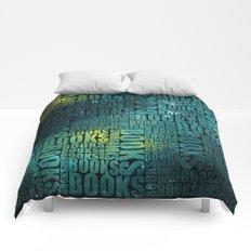 Books Type - Green Galaxy Comforters