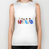 one direction Biker Tanks featuring One Direction by Natasha Ramon