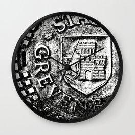 Manhole Cover 3 Wall Clock