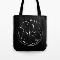 agents of shield Tote Bags featuring SHIELD Vs HYDRA by Pyier