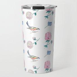 Tudor England Florals and Birds Travel Mug