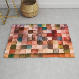 Colorful gift - Geometric watercolor Rug