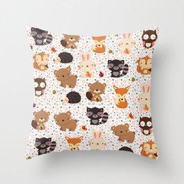 Woodland Nursery Pattern Throw Pillow