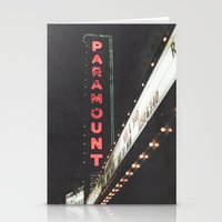 theater Stationery Cards featuring Paramount Theater  by Luke Gram