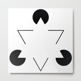 Kanizsa triangle Metal Print