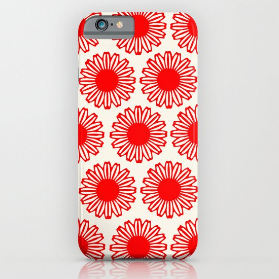 vintage flowers red iPhone & iPod Case