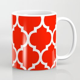 MOROCCAN RED AND WHITE PATTERN Coffee Mug