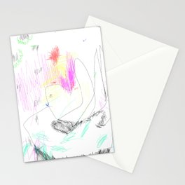 abstract whale Stationery Cards