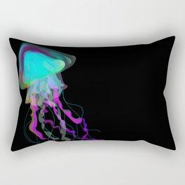 Neon Jellyfish Rectangular Pillow
