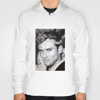 law Hoodies featuring Jude Law by Matteo Felloni Artista