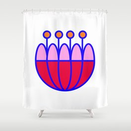 Flower Power 3 Shower Curtain