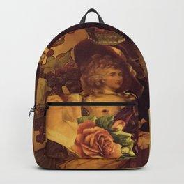 Decoupage Ladies Backpack