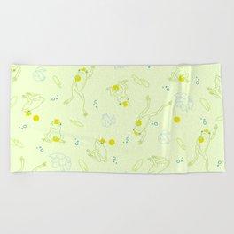 The Frog Prince Beach Towel