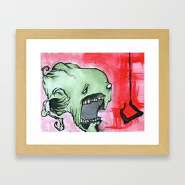 fishing in the dark Framed Art Print
