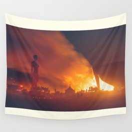 She Burns Wall Tapestry