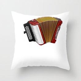 Funny Musician Accordion  Print Throw Pillow