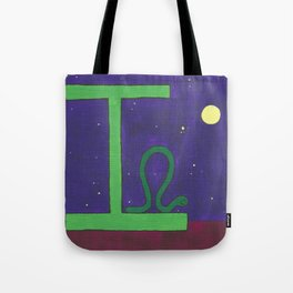 I is for Inchworm Tote Bag