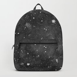 Watercolor galaxy - black and white Backpack