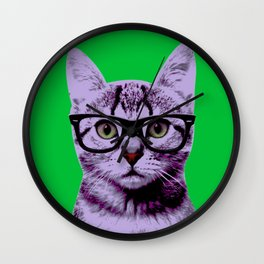 Warhol Cat 3 Wall Clock