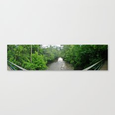 The old bridge to work Canvas Print