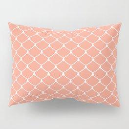 Coral Salmon Scales Print Pattern Pillow Sham